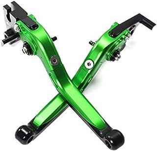 Wooya Coppia di Leve Freno A Tromba in Lega di Alluminio Pieghevoli Telescopiche Regolabili con Modifica CNC per Kawasaki Z800-Verde