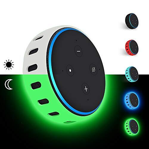 Hydream Custodia in Silicone per Amazon Echo Dot 3a Generazione - Altoparlante Intelligente con Integrazione Alexa, Leggera Antiscivolo Morbido Antiurto Supporto Protettivo Cover (Verd Fluorescente)