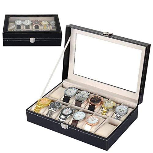 AMAFS Organizador de Caja de Reloj para Hombres Caja de Reloj Personalizada de Madera Soporte Grande para Soporte de Reloj Beautiful Home