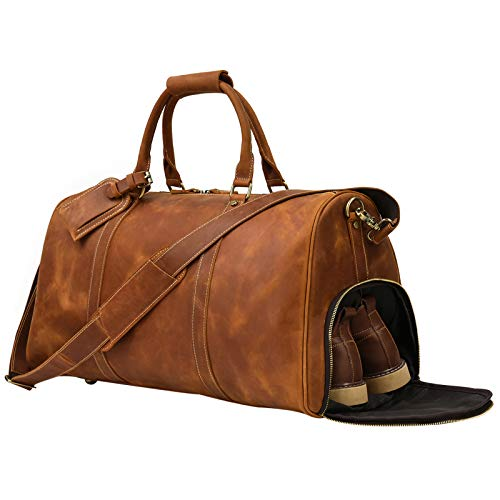 ボストンバッグ 本革 靴入れ付き メンズ 大容量 トラベルバッグ シューズ収納 2way 2泊 3泊 ゴルフバッグ 底鋲付き 旅行バッグ 牛革 旅行鞄 耐久 出張鞄