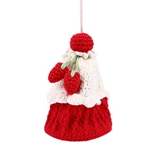 Amosfun Borsa a Tracolla a Tracolla Borsa a Tracolla all'Uncinetto Borsa a Forma di Torta Dessert Borsa a Forma di Cibo Borsa Casual per Le Donne Signora Ragazza Regalo di Natale Rosso