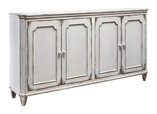 "Ashley Furniture Signature Design - Mirimyn 71"" 4-Door Accent Cabinet - Vintage - Antique White"