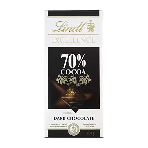 Chocolate Amargo Extra Fino 70% Cacau Dark Chocolate Excellence Caixa 100g Lindt