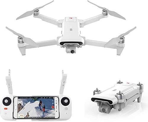 FIMI X8 SE 2020 Kit de dron de diseño plegable 8 km Alcance Cámara 4K UHD 100 Mbp Vídeo HDR 35 minutos Tiempo de vuelo FlyCam Quadcopter UAV Seguimiento GPS (White-1 Batería)