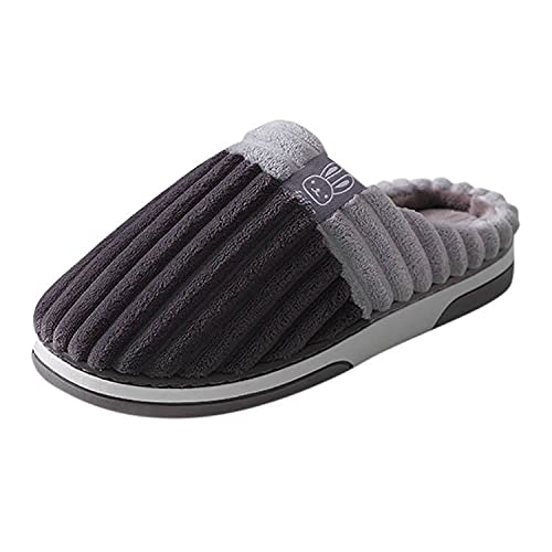 NOLDARES Womens Slippers Cozy Memory Foam Lined Wool-Like Plush Fleece Warm Slip On Velvet Slippers Anti-Skid Slides