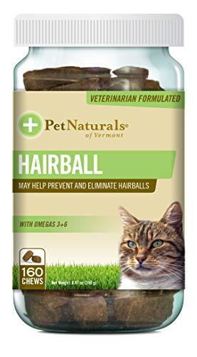 Pet Naturals of Vermont Haarball, zur täglichen Verdauung, Unterstützung von Haut und Fell für Katzen, 160 beißgroße Kauknochen