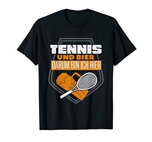 Tennis und Bier lustig Tennisspieler T-Shirt
