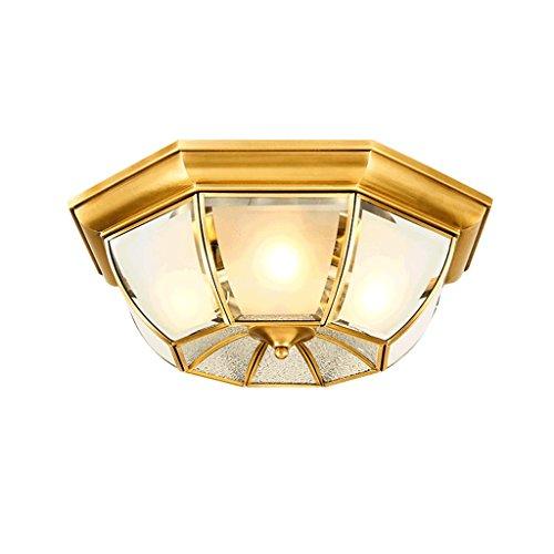 PIAOLING Europäische Luxus Messing Glas Lampenschirm Deckenleuchte, Mode Kreative Geometrische Deckenleuchte, Home Wohnzimmer Schlafzimmer Studie Beleuchtung (Größe : 45 * 15CM)