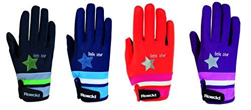 Roeckl Sports Junior Handschuh -Kelli- Kinder Reithandschuh, Beere, 5
