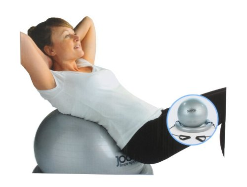 Medicarn Jog On Gym Ball Plus Exerciser with Base and Fitness Expander - Grey
