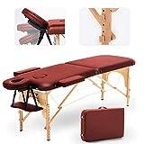 JL Comfurni Massageliege mobile Massagebank klappbar Massagebett mit 2 Zonen