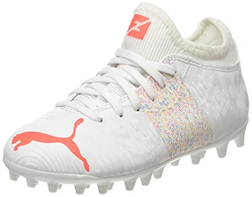 Puma Future Z 4.1 MG JR, Zapatillas de fútbol, White/Red Blast, 34 EU