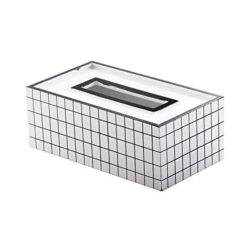 Caja para Pañuelos de Papel Caja de pañuelos, papel cuadrado moderno tejido facial caja sostenedor de la cubierta for tocador de baño encimeras, armarios del dormitorio, mesitas de noche, escritorios