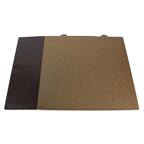 BCZAMD 3D-Drucker Upgrade Bauplatte 310x310 mm / 12,2x12,2 Zoll Beidseitig strukturierte PEI-Federstahlplatte Pulverbeschichtete Platte + Magnetplatte mit Klebeplattform für CR10 CR10S