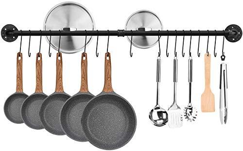 Toplife Colgador Utensilios Cocina-120CM Estante para Utensilios de Cocina de Acero con...