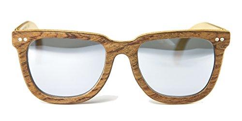 Gafas de madera Charles Bubinga Lente Plata Espejo - FELER