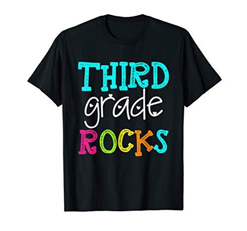 Third Grade Rocks Shirt Team 3rd Grade Teacher T-Shirt