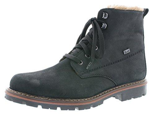 Rieker Herren Winterstiefel 37742,Männer Winter-Boots,Fellboots,Fellstiefel,gefüttert,warm,schwarz/schwarz, EU 43