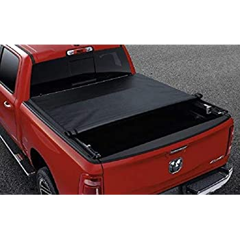 Amazon Com Mopar 82211602 Black Vinyl Tonneau Cover 5 7 Foot Ram Box 1 Pack Automotive