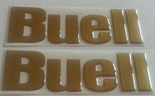 2 Aufkleber Harz Aufkleber 3D Buell Tank Gold