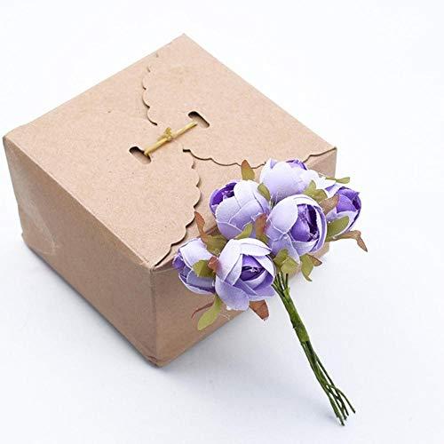 6 stks bruiloft decoratieve bloemen kerstversiering voor thuis bruids accessoires klaring thee rozen goedkope kunstbloemen, 8