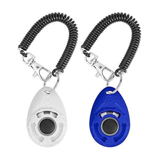 N / A 2PCS Training Clicker for Dogs with Wrist Strap, Dog Cat Clicker Bird Pet Puppy Clicker...