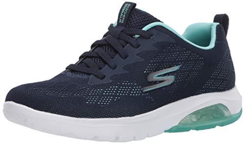 Skechers Go Walk Air-Windchill Damen Sneaker, Blau (Marineblau / Türkis), 38.5 EU