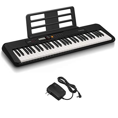 カシオ(CASIO)電子キーボード Casiotone CT-S200BK(ブラック) 61鍵盤 軽量&コンパクト 持ち運びしやすくPOPなデザイン ダンスミュージックモード