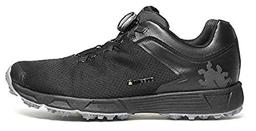 Icebug Men's DTS3 BUGrip Gore-TEX Traction Studded Running Shoe, Carbon/Black, 9