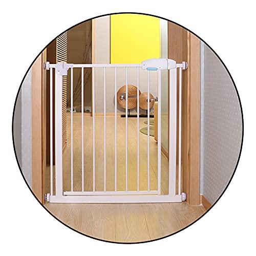 QIANDA Türgitter Treppenschutz Gitter, Extra Hoch Und Breit Sicherheitstür Durchlaufen Türen Treppen, (Color : White, Size : 156-162cm)