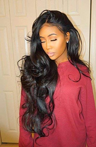 """ISEE Hair Unprocessed Virgin Brazilian Body Wave Human Hair Extension Weave 3 Bundles With 4x4 Free Part Lace Closure Remy Human Hair Body Wave Natural Black(22""""&24""""&26""""with 20""""closure)"""