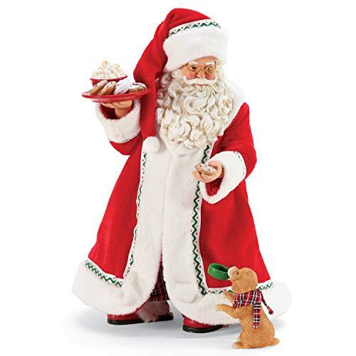 Department 56 Possible Dreams Santa and his Pets Midnight Snack Figurine, 10.5 Inch, Multicolor