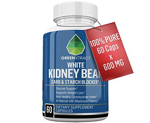 Carb Blocker - 60 X 600 MG of 100% Pure White Kidney Bean Extract - 2 Phase Carb Blocking Benefits (Ingestion and Digestion)