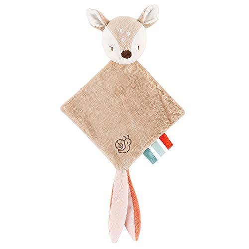 Nattou Mini-Doudou del Ciervo Fanny con Accesorio para Chupete, 21 x 39, Fanny y Oscar, Beige