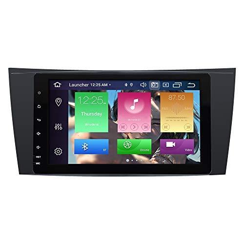 BOOYES para Mercedes Benz E-Class W211 W219 CLS Android 10.0 Octa Core 4GB RAM 64GB ROM 8' Radio de Coche Sistema estéreo GPS Soporte de Reproductor Multimedia para Coche Dab WiFi TPMS OBD