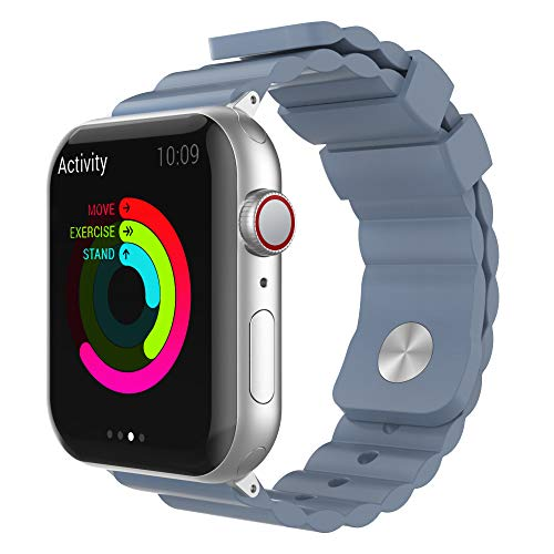 AhaStyle Stylish iWatch Band Breathable Silicone Wrist Strap Replacement Compatible with Apple Watch Series...