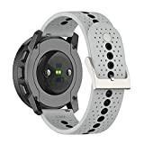 Leiai 22mm Cinturini per Orologi Huawei Watch 3 /3 Pro Bracelet,Cintura Ricambio,Cinturino Silicone per Huawei Watch GT2 Pro/ GT 2e /Watch GT 42mm/GT 46mm/Watch GT2 46mm/ Garmin Venu 2 (grigio)