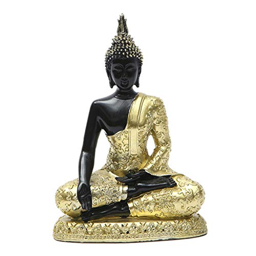 FLAMEER Statua di Buddha, Ornamenti Seduta Buddha GuanYin Modello, Orientale Buddismo Artigianato Artwork Collection per la Casa Ufficio Table Top Decorazione
