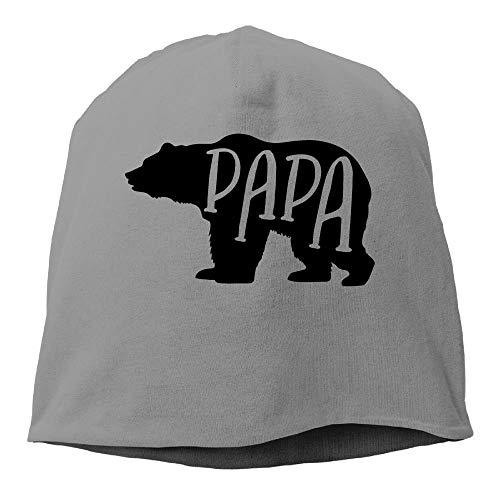 wwoman Papa Bear Beanies Mützen Totenkopfmütze, Unisex, weiche Baumwolle, warm, Einheitsgröße (Einheitsgröße)