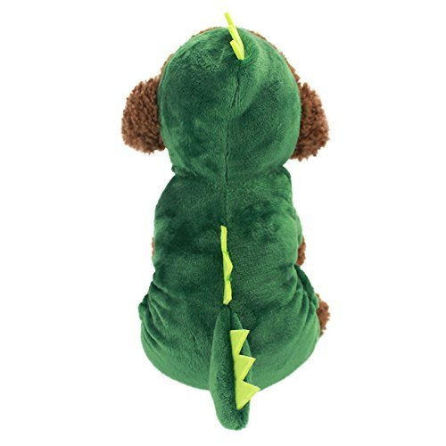 Idepet Dogs Clothes Small Pet Costume Halloween Dinosaur Costume Dog Clothing Puppy Outfits Funny...