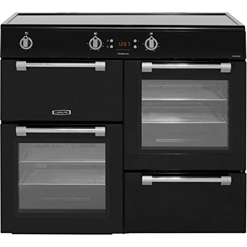 Leisure Cookmaster CK100D210K 100cm Electric Range Cooker with Induction Hob - Black. Plenty Of Cooking Space and Easy To Clean