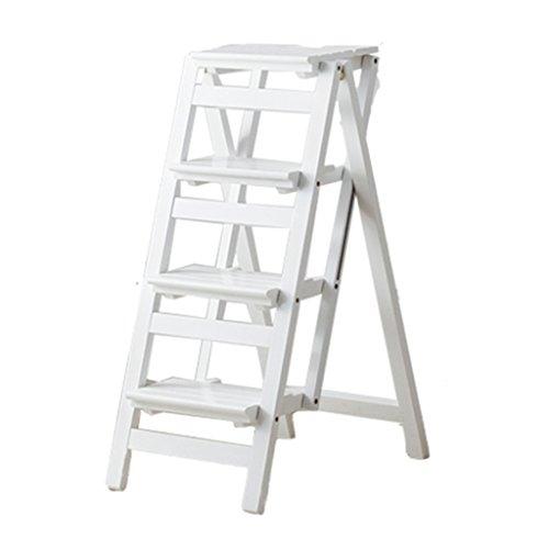 Haushaltsleiter Klappleiter verdicken Hocker Stuhl Innen Multifunktionale aufsteigender Leiter Dual-Use-DREI Schritt Vier Stufenleiter mit Fischgrätmuster Ladder Stabilität und Sicherheit