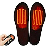 Heated Insoles with Remote Control, Rechargeable Battery Insoles Electric USB Heated Shoe Insoles Heat Shoe Inserts Wireless Foot Warmer for Men Women Winter Outdoor Sport (S/M(4-7.5))