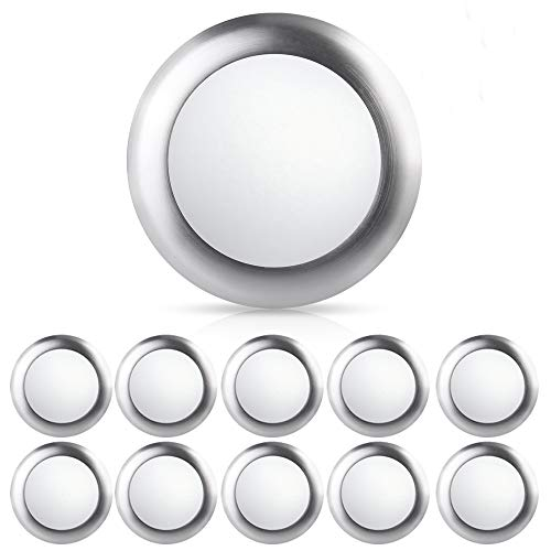 ECOELER 10Pack 6inch 15W 4000K Dimmable LED Disk Light Flush Mount Ceiling Fixture for Home Improved, Cool White Recessed Retrofit Ceiling Light, Brushed Nickel Finish, Energy Star UL-Listed Approved