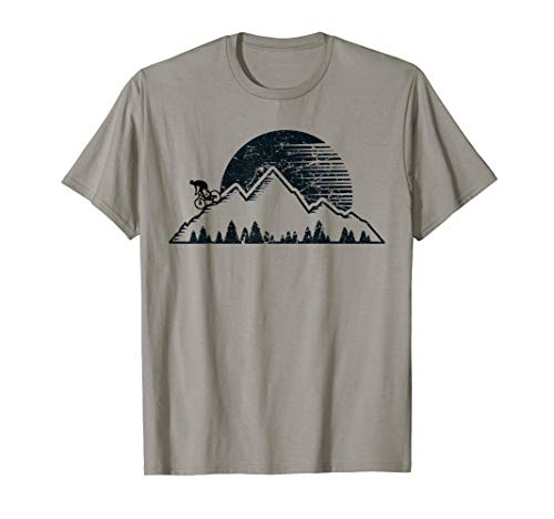 Vintage Mountain Biking Outdoor MTB Downhill Bike Men T-Shirt