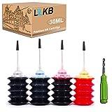 L2KB Refill Ink Kit Replacement 4 Pack 30ML for HP 67 67XL Ink Cartridge for HP Envy 6052 Envy 6055 Deskjet 1255 Deskjet 2752 Printer(Black Cyan Magenta Yellow)