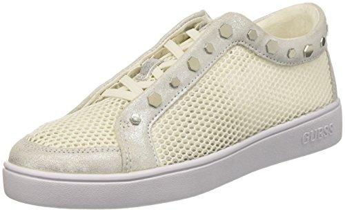 Guess Gisela, Zapatillas de Tenis Mujer, Blanco (White White), 36 EU