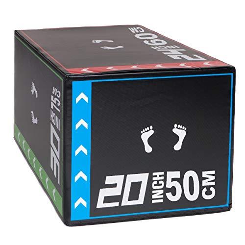 PRISP Jump Box für Schnellkrafttraining und Plyometrische Übungen - 50 60 75 cm Soft Plyo Box - 8,16 kg