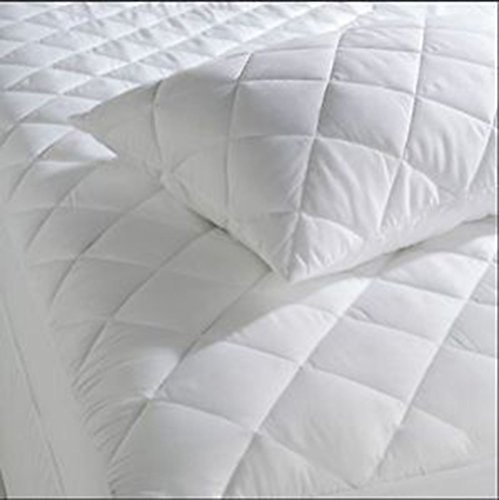 Extra Deep Quilted Mattress Protector 12' Fitted Bed Cover:All Sizes_4 Foot Double