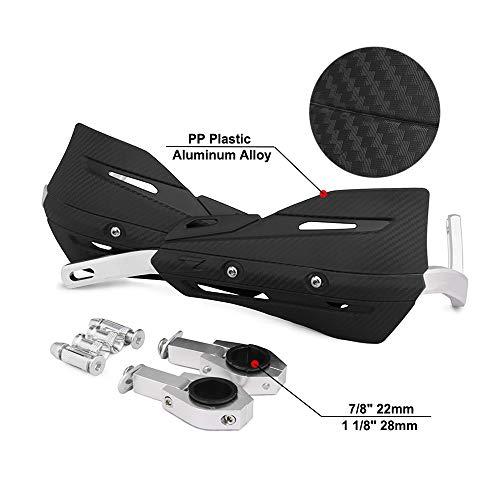 JFGRACING Paramani Motocross in alluminio nero da 22mm e 28mm con kit di montaggio universale per h.o.n.d.a Yamaha Kawasaki Suzuki K.T.M Dirt Bike Motorcycle MX Racing ATV Quad